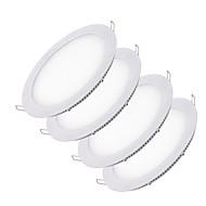 baratos Luzes LED de Encaixe-o zdm® 4pcs 6w 30 leds recessed / fácil instala luzes conduzidas do painel / downlights conduzidos branco natural / frio branco / ac12v / ac24v