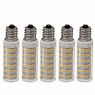 billige Kornpærer med LED-5pcs 4.5 W 450 lm E12 LED-kornpærer T 76 LED perler SMD 2835 Mulighet for demping Varm hvit / Kjølig hvit 220 V