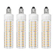 billige Kornpærer med LED-4stk 8.5 W 1105 lm E11 LED-kornpærer T 125 LED perler SMD 2835 Mulighet for demping Varm hvit / Kjølig hvit 110 V