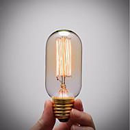 billige Glødelampe-GMY® 1pc 40 W E26 / E27 T45 Ravgult 2200 k Kontor / Bedrift / Mulighet for demping / Dekorativ Glødende Vintage Edison lyspære 220-240 V