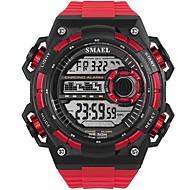 Муж. Спортивные часы электронные часы Цифровой Стеганная ПУ кожа Черный / Белый / Красный Защита от влаги Фосфоресцирующий Крупный циферблат Цифровой На каждый день Мода - Зеленый Синий Хаки