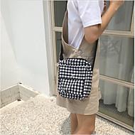 baratos Bolsas de Ombro-Mulheres Bolsas Poliéster Bolsa de Ombro Ziper Preto / Rosa / Amarelo