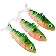 billiga Fiske-3 pcs Fiskbete Mjukt bete Plast Utomhus Kastfiske / Drag-fiske / Generellt fiske