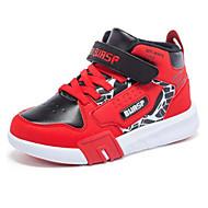 baratos Sapatos de Menino-Para Meninos Sapatos Sintéticos Inverno Conforto Tênis Velcro para Infantil Vermelho / Preto / Vermelho / Estampa Colorida
