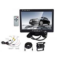 billiga Parkeringskamera för bil-7 tum TFT-LCD 420TVL 420 TV-Lines CMOS-sensor Kabel 130 grad Bakre kamera / Car Reversing Monitor Vattentät / Nattseende / LCD-skärm för Bilar / Buss / Truck