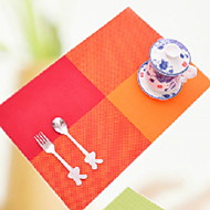 billige Bordduker-Moderne 100g / m2 Polyester Strik Stretch Kvadrat Bordskånere Geometrisk Borddekorasjoner 1 pcs