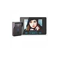 billige Dørtelefonssystem med video-Factory OEM Trådløs Innebygd Ut-høytaler 7 tommers Håndfri 800*480 pixel En Til En Video Dørtelefon