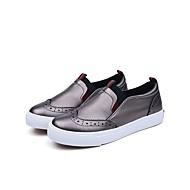 baratos Sapatos de Menina-Para Meninas Sapatos Microfibra Verão Conforto Mocassins e Slip-Ons para Infantil Branco / Preto / Prata / Estampa Colorida