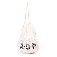 baratos Bolsas de Ombro-Mulheres Bolsas Poliéster Bolsa de Ombro Vazados Branco / Rosa / Bege