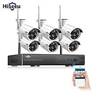hiseeu® 8ch sistema di telecamere a circuito chiuso senza fili 6pcs 1080p wifi ip telecamera esterna di sicurezza domestica sistema di videosorveglianza nvr kit