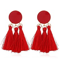 Žene Rese Viseće naušnice - Stilski Boemski stil Jewelry Zelen / Plava / Pink Za Rođendan Dar Svečanost 1 par
