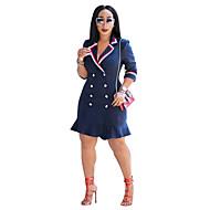 Per donna Essenziale Cotone Taglia piccola Fodero Vestito A V scollato Sopra il ginocchio Vita alta