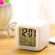 7 culori a condus schimbarea digitale de alarmă ceas de birou termometru de noapte stralucitoare cub lcd ceas