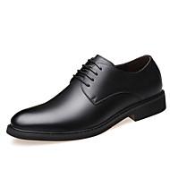 Erkek Ayakkabı Tüylü İlkbahar & Kış İş / Günlük Oxford Modeli Günlük / Ofis ve Kariyer için Siyah / Kahverengi