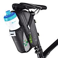 ROCKBROS Fahrrad-Sattel-Beutel tragbar Einfach zu installieren Fahrradtasche Kohlefaser Tasche für das Rad Fahrradtasche Radsport Radsport / Fahhrad / Wasserdichter Verschluß
