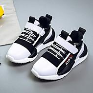 baratos Sapatos de Menina-Para Meninos / Para Meninas Sapatos Couro Outono Conforto Tênis para Infantil Branco / Preto