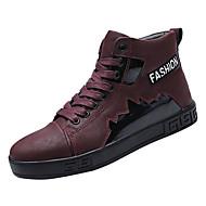 08028bbf48 Hombre Zapatos Confort PU Invierno Casual Botas Antideslizante Negro   Wine    Caqui