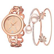 สำหรับผู้หญิง นาฬิกาสร้อยข้อมือ นาฬิกาข้อมือ นาฬิกาอิเล็กทรอนิกส์ (Quartz) สแตนเลส ทอง / Rose Gold 30 m น่ารัก นาฬิกาใส่ลำลอง ระบบอนาล็อก กำไล แฟชั่น - สีทอง Rose Gold หนึ่งปี อายุการใช้งานแบตเตอรี่