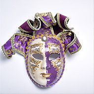 cheap -Mask / Venetian Mask Vintage Purple / Red Fabric Party Cosplay Accessories Halloween / Carnival / Masquerade Costumes