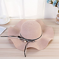 สำหรับผู้หญิง สีพื้น วินเทจ - หมวกสาน