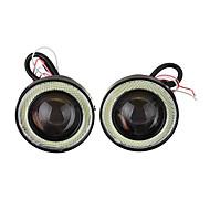 זוג 2.5 אינץ 'הוביל אורות ערפל עם עין מלאך עין הילה טבעת drl מקרן עדשה נהיגה אור
