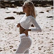 Women's Strapless White Black Thong Tankini Swimwear - Solid Colored M L XL White / Sexy