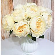 زهور اصطناعية 9 فرع كلاسيكي كلاسيكي أوروبي الفاوانيا أزهار الطاولة