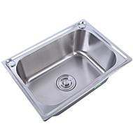 tanie Baterie i krany-Kitchen Sink- Stal nierdzewna Szczotkowany Prostokąt Undermount Pojedyncza miska