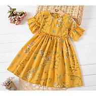 שמלה שרוולים קצרים פרחוני בנות ילדים