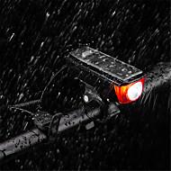billige Sykkellykter og reflekser-Bike Horn Light LED Sykkellykter Sykling Vanntett, Bærbar, Holdbar Oppladbart Batteri 350 lm Oppladbar / Solkraft Camping / Vandring / Grotte Udforskning / Dagligdags Brug / Sykling - ROCKBROS