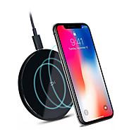 元のzmi xiaomi qc 3.0ワイヤレス充電器iphone x / xr / xs max / 8プラス注8 9 s9 / s9ノキアネクサス2.5 dガラス表面10 wチーワイヤレス充電器