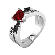 Women's Ring Ring Jewelry Red For Birthday Gift Daily 5 / 6 / 7 / 8 / 9