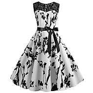 Жен. Классический Оболочка Платье - Цветочный принт До колена