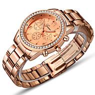 Mujer Reloj de Vestir Reloj de Pulsera Relojes de Oro Cuarzo Acero Inoxidable Plata / Dorado / Oro Rosa 30 m Bonito Reloj Casual Analógico Clásico Moda - Plata Dorado Oro Rosa Un año Vida de la