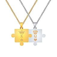 Muškarci Žene Jastuk Ogrlice s privjeskom Korona Jednostavan Jedinstven dizajn Moda Cool Zlatni + Silver 47+5 cm Ogrlice Jewelry 2pcs Za Dnevno Izlasci Kamado roštilj
