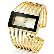 Damen Uhr Armband-Uhr Quartz Legierung Silber / Gold / Rotgold Armbanduhren für den Alltag Cool Großes Ziffernblatt Analog Modisch Elegant Golden + schwarz Rotgold Schwarz / Rotgold / Ein Jahr