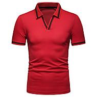Állógallér Férfi Pamut Póló - Egyszínű Rubin L