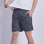 Herr Svart Badbyxor Nederdelar Badkläder - Geometrisk XL XXL XXXL Svart