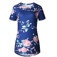 Damen Blumen T-shirt Blau M
