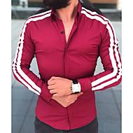 男性用 シャツ ストライプ ブラック L