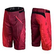 baratos -Homens Calção Downhill Bermudas para MTB Moto Shorts Calças Esportes Xadrez / Quadrados Algodão Verde / Azul / Cinzento Ciclismo de Montanha Roupa Forma Assenta Roupa de Ciclismo / Com Stretch