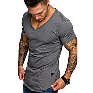 Herrn Solide EU- / US-Größe T-shirt, V-Ausschnitt Dunkelgray XL