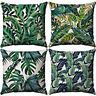 4.0 adet Pamuk / Keten Yastık Kılıfı, Ağaçlar / Yapraklar Desen Desenli Tropik