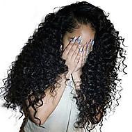 Ljudska kosa Lace Front Perika Duboko udaljavanje Stražnji dio stil Brazilska kosa Duboko kovrčava Perika 250% Gustoća kose s dječjom kosom Dar Rasprodaja Udobnost Natural Žene Dug Perike s ljudskom