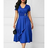فستان نسائي ثوب ضيق أساسي ميدي لون سادة