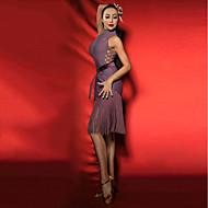 الرقص اللاتيني الفساتين نسائي أداء سباندكس شرابة بدون كم فستان