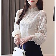 Bluzka Damskie Solidne kolory Biały L