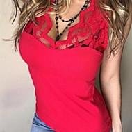 Γυναικεία T-shirt Μονόχρωμο Τιράντες Λεπτό