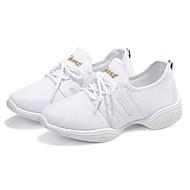 Dámské Taneční tenisky Síťka Tenisky Rovná podrážka Obyčejné Taneční boty Bílá