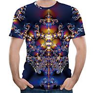 Herrn 3D / Grafik T-shirt Druck Purpur XXXXL